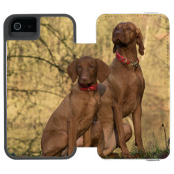 Incipio Watson™ iPhone 5/5s Wallet Case with Vizsla Phone Cases design