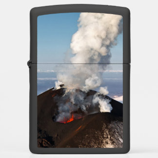Beautiful volcanic erupting zippo lighter
