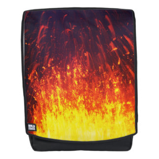 Beautiful volcanic eruption at night backpack