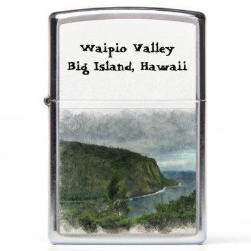 Beach Themed Beautiful Waipio Valley Zippo Lighter