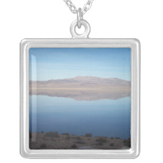 Beautiful Walker Lake Square Pendant Necklace