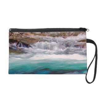 Beautiful Water Creek Landscape Photo Wristlet Clutch