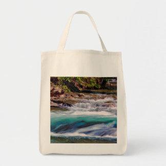 Beautiful Water Creek Landscape Photo Grocery Tote Bag