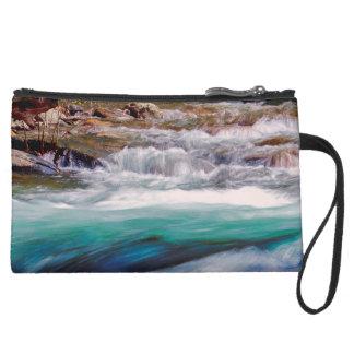 Beautiful Water Creek Landscape Photo Wristlet