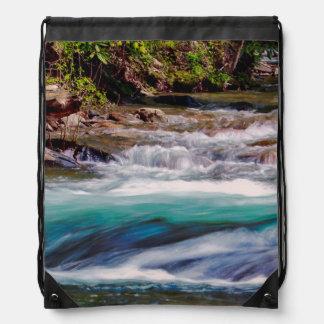 Beautiful Water Creek Landscape Photo Cinch Bags