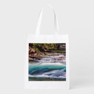 Beautiful Water Creek Landscape Photo Reusable Grocery Bag