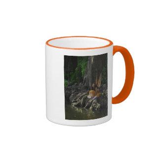 Beautiful Water Fairy in Orange Coffee Mug
