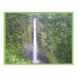 Beautiful Water Fall At Akaka, Hamakua, Hi Postcard