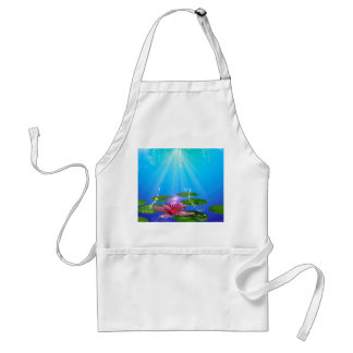 Beautiful water lily with water splash adult apron