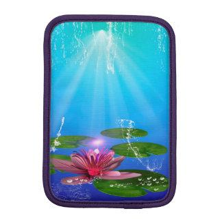 Beautiful water lily with water splash sleeve for iPad mini
