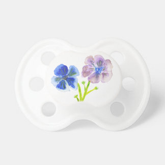 Beautiful watercolor blue and purple anemones BooginHead pacifier