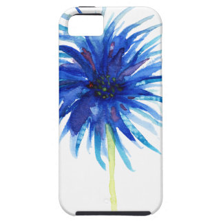 Beautiful watercolor blue windflower iPhone SE/5/5s case