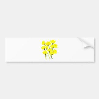 Beautiful watercolor buttercups bumper sticker