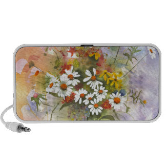 Beautiful Watercolor Daisie and Clover Speakers