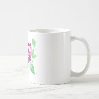 Beautiful watercolor dark pink rose coffee mug