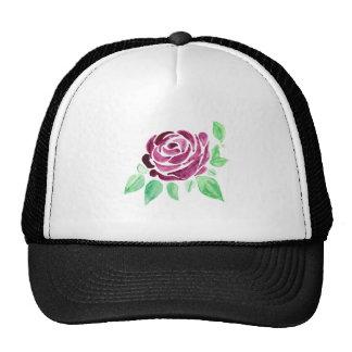 Beautiful watercolor dark pink rose trucker hat