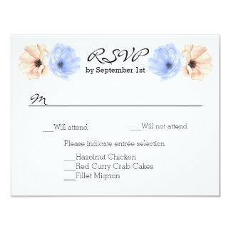 Beautiful Watercolor Floral Wedding RSVP Card