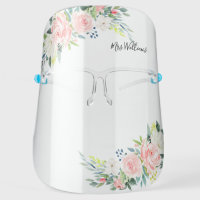 Beautiful Watercolor Florwers Personalized Face Shield