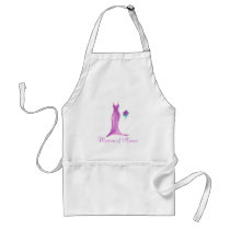 Beautiful Watercolor Matron of Honor Apron Gift