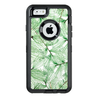 Beautiful Watercolor pine branches OtterBox Defender iPhone Case