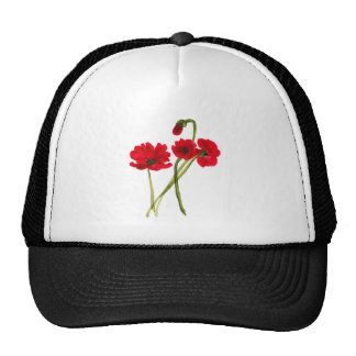 Beautiful watercolor poppies trucker hat