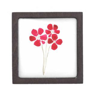 Beautiful watercolor red anemones gift box