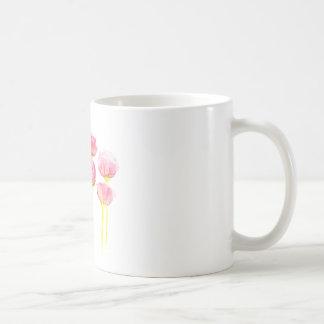 Beautiful watercolor red peonies coffee mug