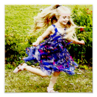 Beautiful Watercolor Twirling Girl Posters