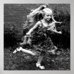 Beautiful Watercolor Twirling Girl Print
