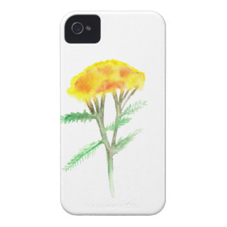 Beautiful watercolor yellow gaillardia iPhone 4 case