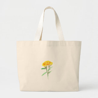 Beautiful watercolor yellow gaillardia large tote bag