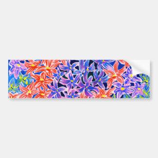 Beautiful Watercolour Floral Bumper Stickers