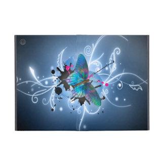 Beautiful watercolours glowing effects butterfly case for iPad mini
