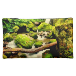 Beautiful waterfall cosmetic bag