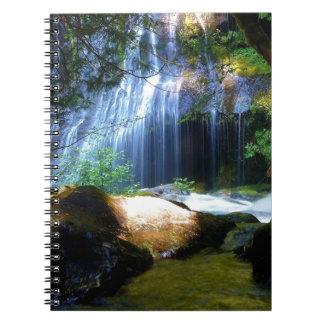 Beautiful Waterfall Jungle Landscape Spiral Notebook