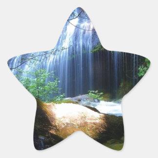 Beautiful Waterfall Jungle Landscape Star Stickers