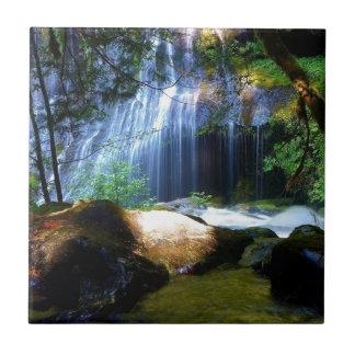 Beautiful Waterfall Jungle Landscape Tile