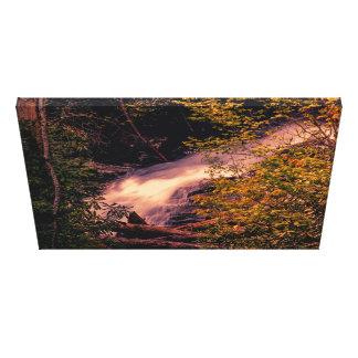 Beautiful Waterfall Landscape Photo Canvas Print