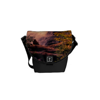 Beautiful Waterfall Landscape Photo Courier Bags