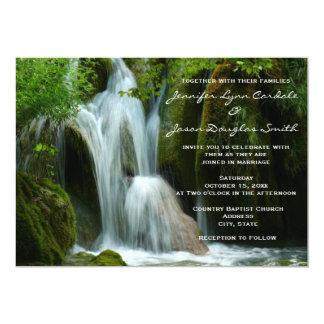 "Beautiful Waterfall Nature Wedding Invitations 5"" X 7"" Invitation Card"