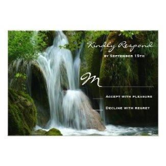 Beautiful Waterfall Nature Wedding RSVP Cards