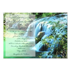 Beautiful Waterfall Outdoor Wedding Invitations