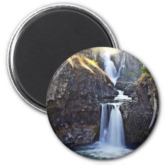Beautiful waterfall scene 2 inch round magnet
