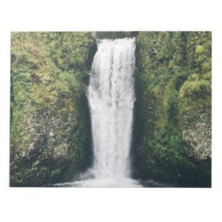 Beautiful waterfall scenery notepad