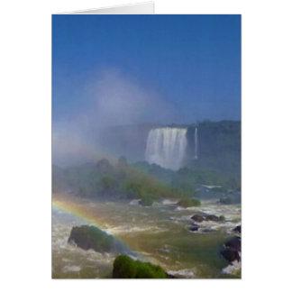 Beautiful waterfalls in Brazil - Iguazu Falls Card