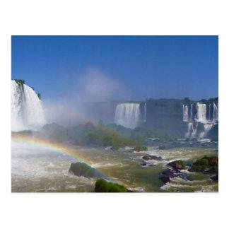 Beautiful waterfalls in Brazil - Iguazu Falls Postcard