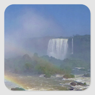 Beautiful waterfalls in Brazil - Iguazu Falls Square Sticker