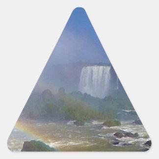 Beautiful waterfalls in Brazil - Iguazu Falls Triangle Sticker