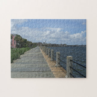Beautiful Waterfront Walkway Jigsaw Puzzle