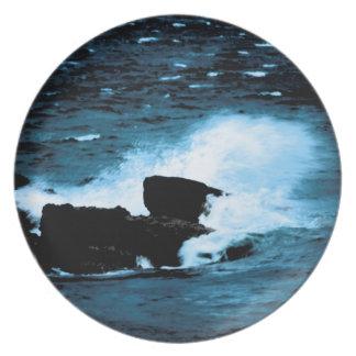 Beautiful Wave Melamine Plate